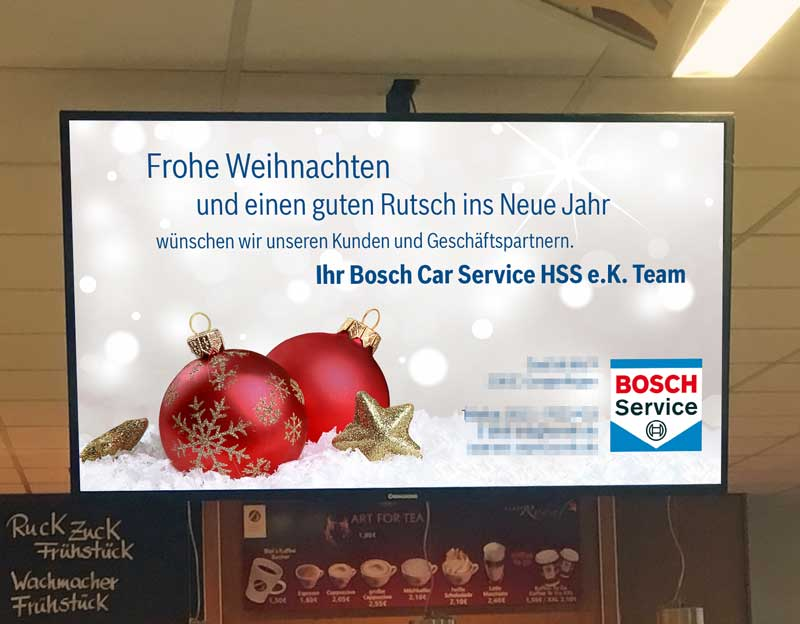 Bosch wünscht frohe Weihnachten