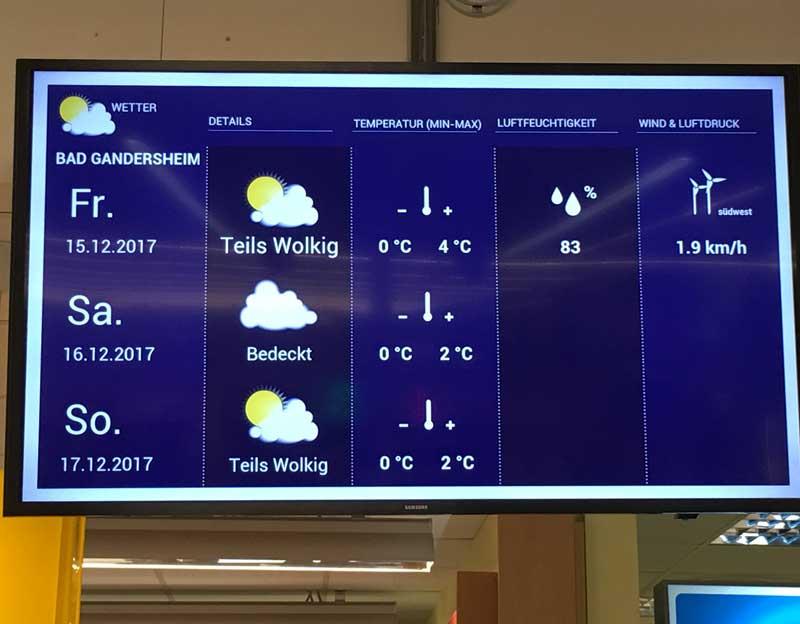 Wettervorhersagen erwecken die Aufmerksamkeit der Kunden